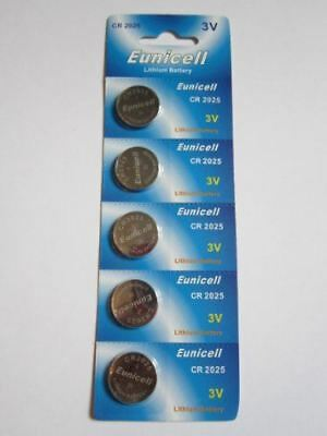 5 Pcs CR2025 CR 2025 - 3V Eunicell Lithium Button Cell Battery Batteries - BRAND