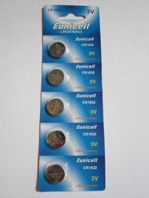 5 Pcs CR1632 CR 1632 - 3V Eunicell Lithium Button Cell Battery Batteries - BRAND