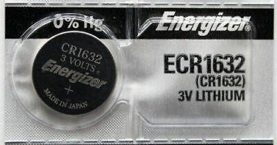 2PC Energizer ECR1632 CR1632 Lithium Coin Batteries 3V
