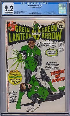 GREEN LANTERN #87 - CGC 9.2 OW-WP - NM- First JOHN STEWART Neal Adams Cover