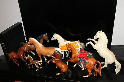 Lot Of 8 Different Vintage Breyer Toy Horses Some Rare In Excellent Condition !