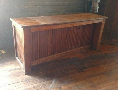 1900s Pine Merchantile Store Counter TV Stand Console Primitive Country Store