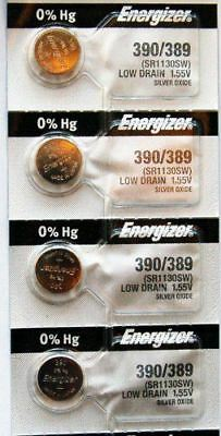 4PC Energizer 389 390 SR1130SW SR1130W 189 Silver Oxide Cell Battery