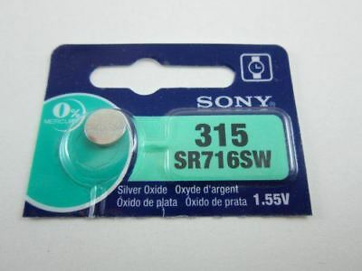 Sony 1x SR716SW 315 - 1.55V Silver Oxide Button Cell Watch Battery Batteries NEW
