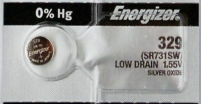 1PC Energizer 329 SR731SW Silver Oxide Battery 1.55V