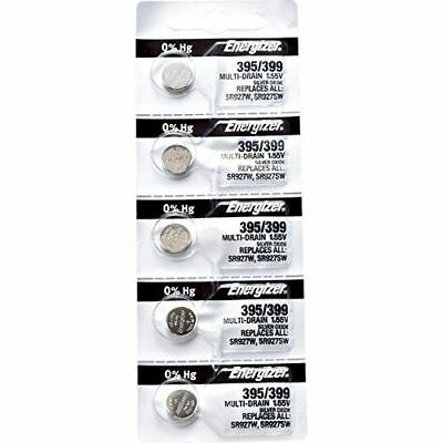 5 x Energizer 395 Watch Batteries, 1.55V, equivalent SR927W, 399, SR927SW