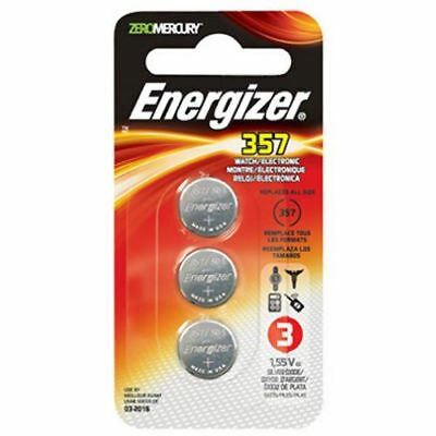Energizer 357 Zero Mercury Watch/Electronic Battery, 3-Pack