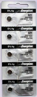 5PC Energizer 321 SR616SW Silver Oxide 1.55V Coin Cell Battery - Made in Japan