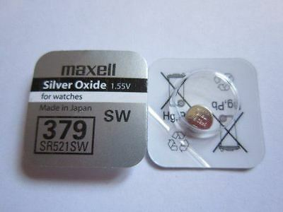 1 Pcs SR521SW 379 SR521 SW - 1.55v Silver Oxide Maxell Button Cell Watch Battery