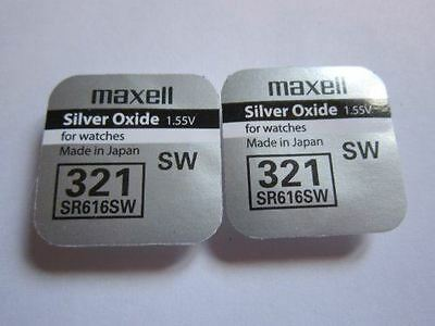 Maxell 2x SR616SW SW321 SW 321 - 1.55V Silver Oxide Button Cell Watch Battery Ba