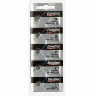 Energizer Watch Battery Button Cell SR626SW E376/377 Pack of 5 Batteries