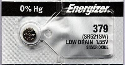 5 Energizer Watch Batteries 379/SR521SW/SR521