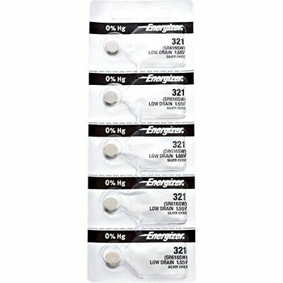 5 x Energizer 321 Watch Batteries, 0% MERCURY equivilate SR616W