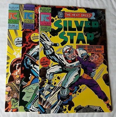 Silver Star Lot #1,2,3 1983 Pacific Comics  All  3 issues are NM. Jack Kirby S&A
