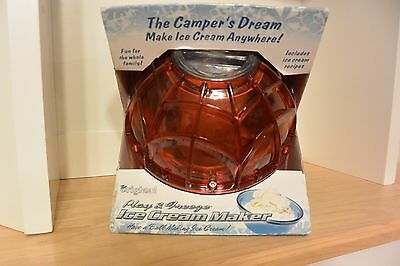 Campers Dream: Play and Freeze Ice Cream Ball Ice Cream Maker Pint Size Orange