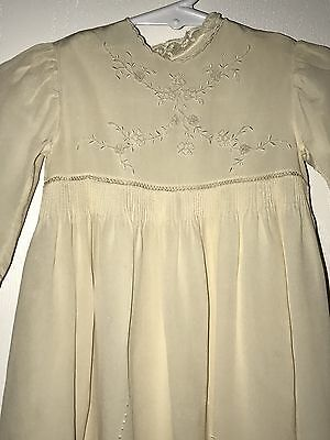 Antique Silk Christening Gown W/Slip, Excellent Condition - or for Compo Doll