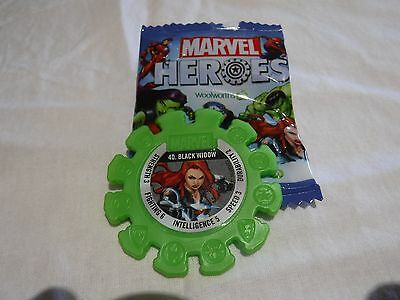 Woolworths Marvel Heroes Disc Black Widow 40 Green As New