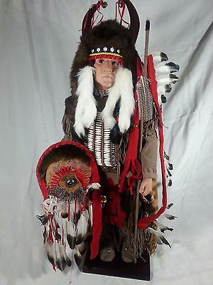 """36"""" Timeless Collection Crazy Bull Indian Doll Nanci Limited Edition IOB and COA"""
