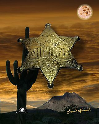 Prop Sheriff Badge for photography