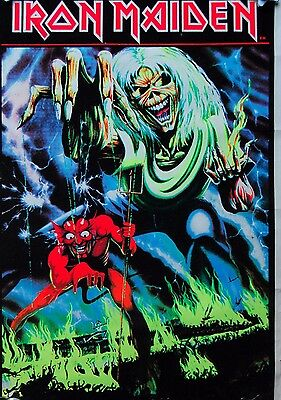 "Iron Maiden ""Number Of The Beast"" Blacklight 1983 Original Vintage Poster"