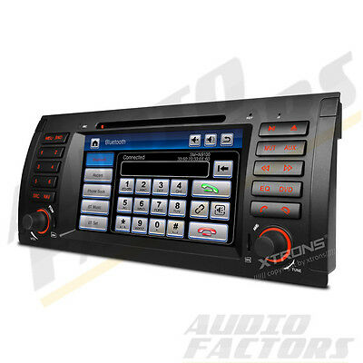 "XTRONS 7"" Touch Screen Car CD DVD Stereo Radio GPS Navi Bluetooth for BMW E53 X5"