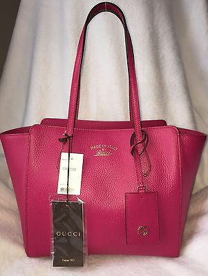 79c45ca7938d NWT 100% Authentic Gucci Swing small leather tote in Blossom color 354408  CAO0G