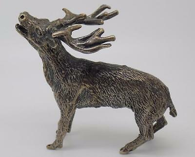 84g Vintage Solid Silver LARGE Elk Miniature - Rare - Stamped - Italian Made
