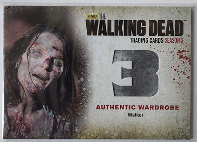 Walking Dead Season 3 Part 2 Wardrobe Costume Card W9 Walker
