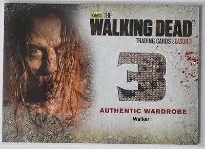 Walking Dead Season 3 Part 2 Wardrobe Costume Card W3 Walker