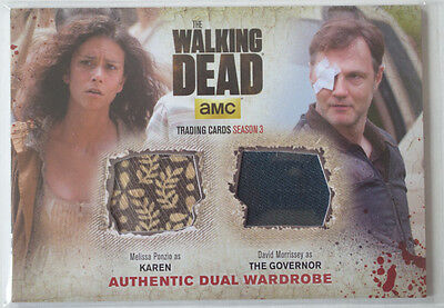 Walking Dead Season 3 Part 2 Wardrobe Costume Card DM3 Karen & The Governor