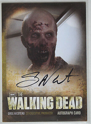 Walking Dead Season 2 Autograph Card A12 Greg Nicotero - Co-Executive Producer