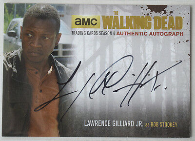 Walking Dead Season 4 Part 2 GOLD Autograph Card LG2 Lawrence Gilliard Jr as Bob