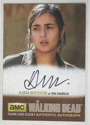 Walking Dead Season 4 Part 2 SILVER Autograph AM1 Alanna Masterson Tara Chambler
