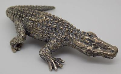 94g!! Vintage Solid Silver LARGE Crocodile Miniature - Stamped - Made in Italy