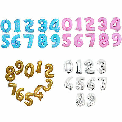"""40"""" Mylar Foil Balloons Number Birthday Wedding Party Festival Decors Colorful"""