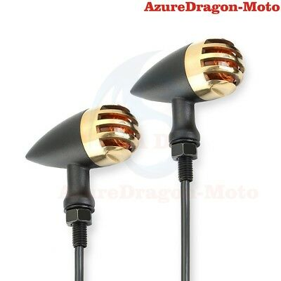 For Harley Chopper Bobber Cafe Racer Amber Turn Signals Tail Indicator Light AU