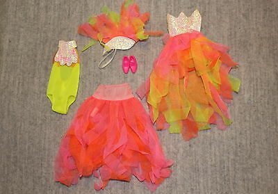 Barbie Mattel Vintage 1990's Rare Costume Fashion Bird Ball Gown Outfit