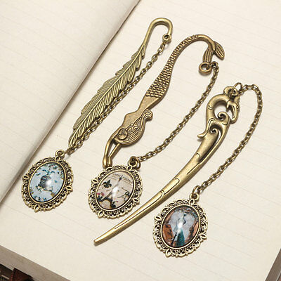 1 Pcs Vintage Antique Alloy Bronze Metal Bookmark Pendant Label Signet Gift New