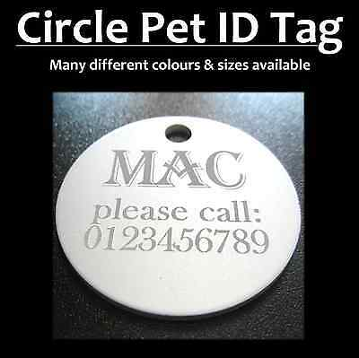 Aluminium Circle Pet Tag With FREE Engraving for Dog Cat Tags & FREE postage