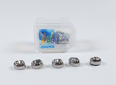 5Pcs Dental Kids Primary Molar Crowns Stainless Steel 48 Sizes Dentist Temporary