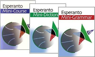 Esperanto Mini-Trio (pack). Mini-course, Mini-grammar & Mini-dictionary.