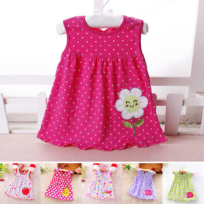 New Toddler Kids Baby Girl Princess Floral Casual Summer Beach Dress Sundress