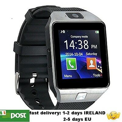 DZ09 Smart Watch Bluetooth GSM with SIM Card Slot For Android Phone black/silver