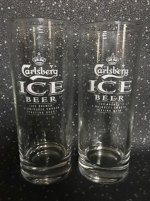 Carsberg Ice Beer Half Pint Glasses (X2) - New