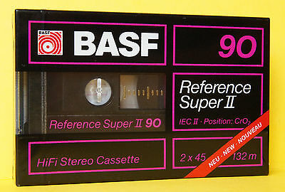 1x BASF REFERENCE SUPER II 90 Cassette Tape 1988 + OVP + SEALED + RARE +