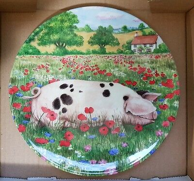Royal Doulton 'Poppy' Pigs in Bloom collection by Debbie Cook