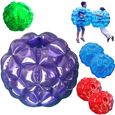 90 CM Blue Buddy Bumper Ball Inflatable Body Bubble Soccer Kids Outdoor Toy 1pcs