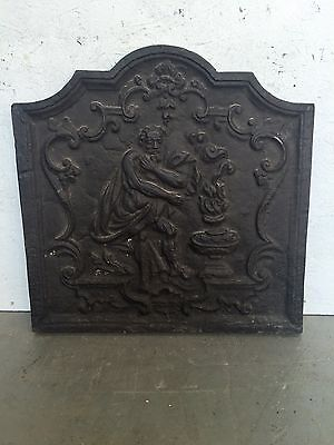 Antique Fire Back Plate Cast Iron For Open Grates 20 Inch (51cm)