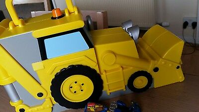 Bob The Builder Scoop Storage Carry Case With Diecast Vehicle