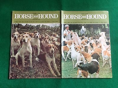 Hunting - 9 Vintage Horse And Hound Magazines